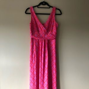 Jude Connally pink printed sleeveless maxi dress